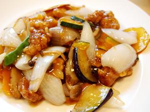 かんざし ランチセットの酢豚(黒酢)