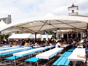 地ビールフェスト甲府 飲食スペース
