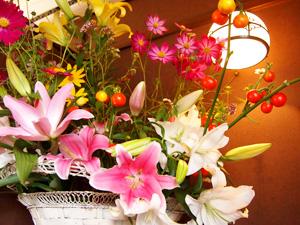 おかえりなさいほうづき 生け花