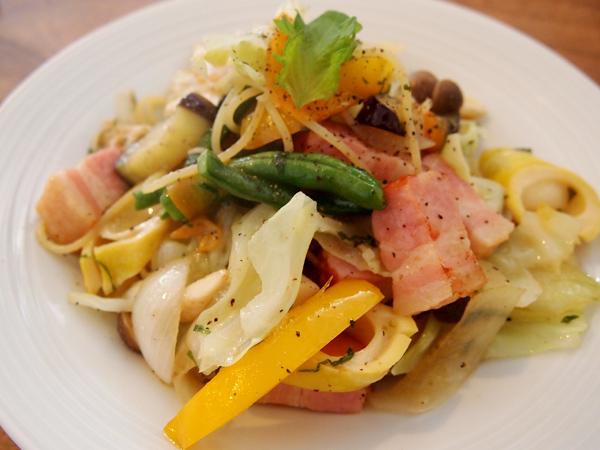 freebar-d 野菜たっぷりパスタ柚子コショウ風味