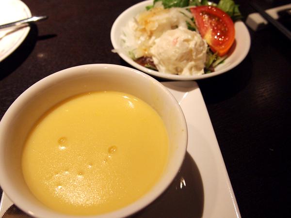 THE BENJARONG ランチのスープ・サラダ