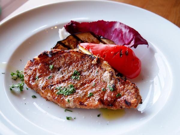 INTI ランチセット 豚肉と野菜のグリル