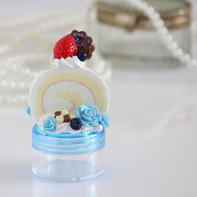 YUMEDECO ロールケーキ プチケース【1点もの】