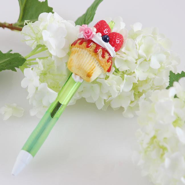 YUMEDECO カップケーキ ボールペン【1点もの】