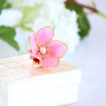 Flower Phoebe 帯留め『桃の花』