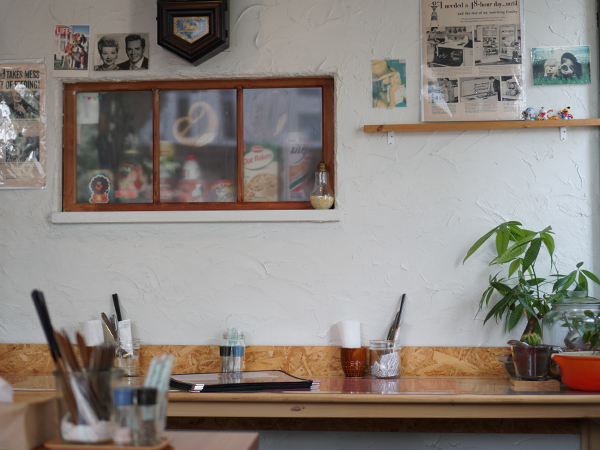 ハラペコカフェ カウンター